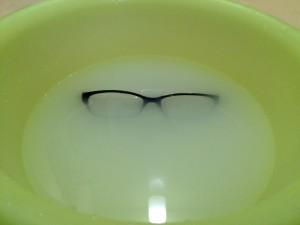 メガネとお湯