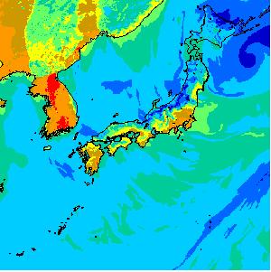 冬の日本の湿度